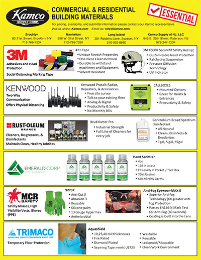 Essential Products for Jobsite Safety Line Card